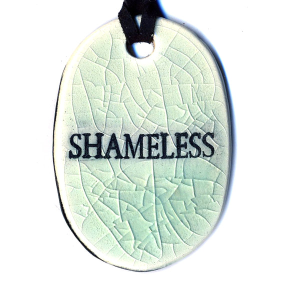 Crackle Shameless Surly Ramic Necklace