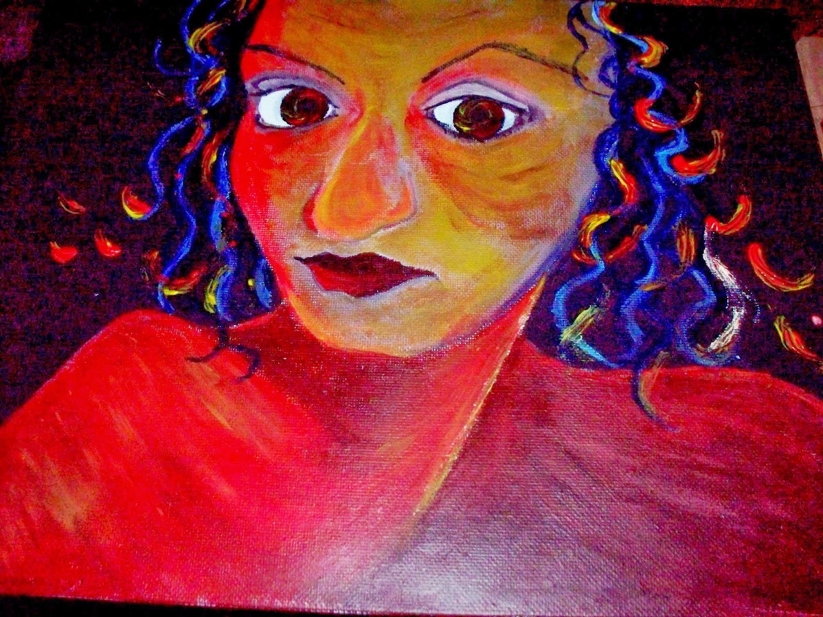 Colorful Portrait of a woman
